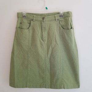 Woolrich Skirt Green Front Pockets Front Zip